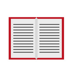 book open symbol isolated vector image