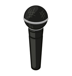 cartoon black microphone vector image