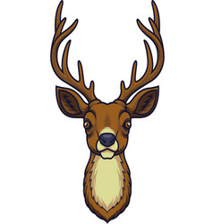 cartoon deer head mascot vector image