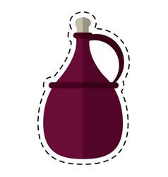 Cartoon wine carafe cork icon vector