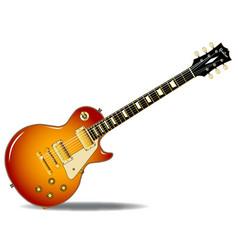 Cherry sunburst guitar vector