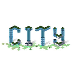 city 2019 concept vector image