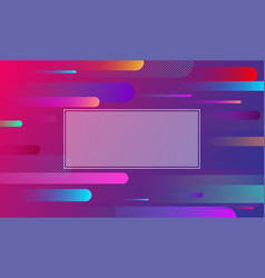 Colorful background with frame and geometric vector