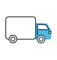 Delivery truck transport marketing and e-commerce vector
