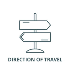 direction travel line icon linear vector image