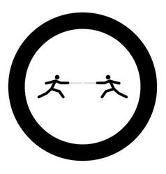 fencer stick icon black color simple image vector image
