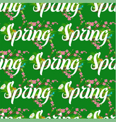floral spring seamless pattern background with vector image