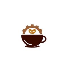 gear coffee logo icon design vector image
