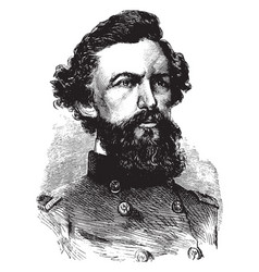 General robert patterson vintage vector
