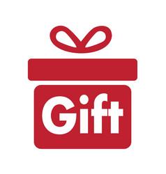 Gift box logo design vector