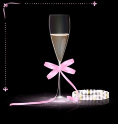 Glamour champagne vector