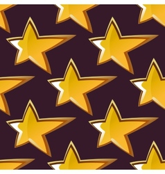 Golden shooting star seamless pattern vector image