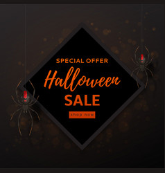 halloween sale design background vector image