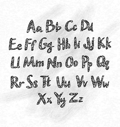 Hand drawn abc small letters vector