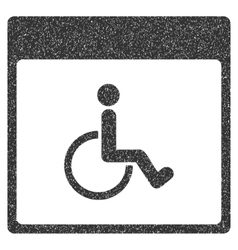 Handicapped Calendar Page Grainy Texture Icon vector