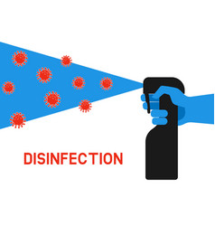 home disinfection concept vector image