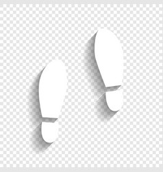 Imprint soles shoes sign white icon with vector