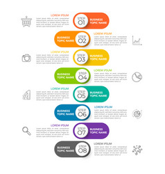 infographic timeline design template vector image
