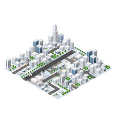 isometric area landscape vector image