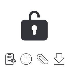 Lock sign icon login symbol vector