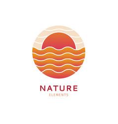 Logo marine landscape vector