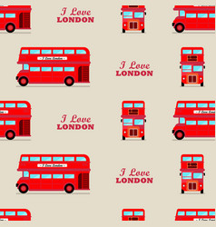 London city bus seamless pattern vector