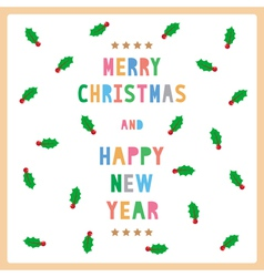 MC and HNY greeting card12 vector