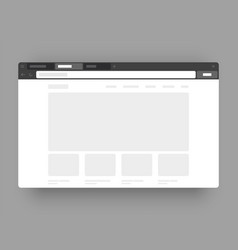 minimalistic concept web browser wireframes vector image
