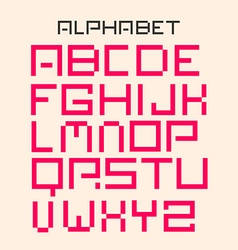 Modern Digital Alphabet Set vector image