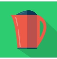 Modern flat design concept icon Kettle tea and vector