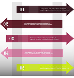 modern strips infographics x options banner for vector image
