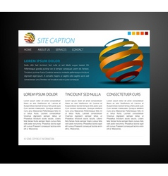 modern website template vector image