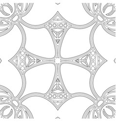 Monochrome seamless pattern with mosaic motif vector