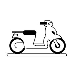 Motorcycle flat vector