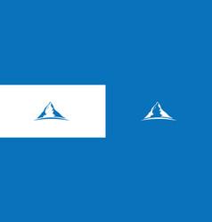 mountain big peak logo vector image