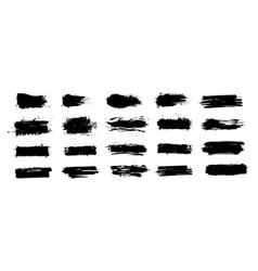 mud splashes collection grunge brushstroke vector image