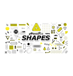 neo memphis geometric shapes collection vector image