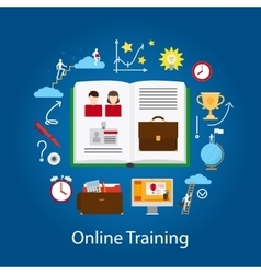 Online Education and Webinar Concept vector image