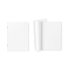 Open and close white clear booklet magazine vector
