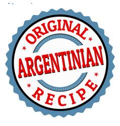 Original argentinian recipe sign or stamp vector