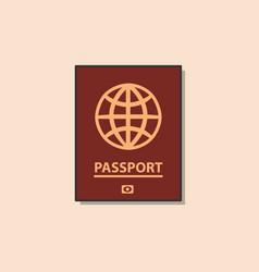 passport color flat icon vector image