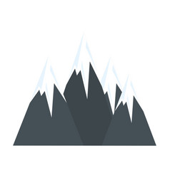 peak mountains landscape vector image