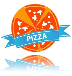 Pizza icon slices arranged beautifully vector