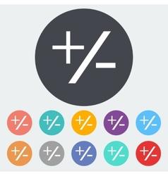 Plus minus icon vector