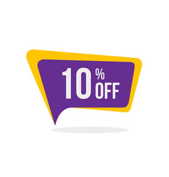 printmodern style sale discount tags 10 off vector image