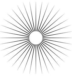 Radiating circular lines abstract monochrome vector