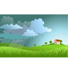 rain is coming vector image