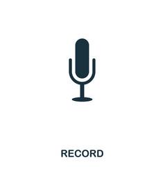 record icon line style icon design ui vector image
