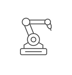 Robotic industry line outline icon vector
