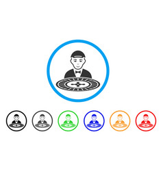 Roulette dealer rounded icon vector